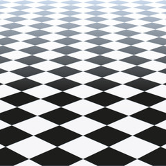 Vector Illustration Of A Checkered Floor Pattern