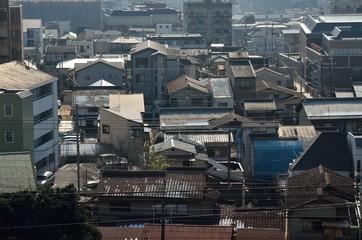 京都市山科区の街並み