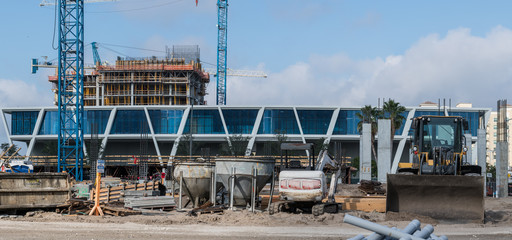 Brightline West Palm Beach train station under construction