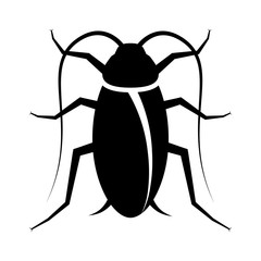 Cockroach pest or roach infestation flat vector icon for insect apps and websites