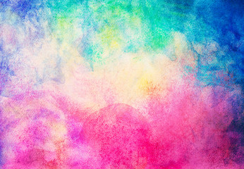 abstract hand painted watercolor on painting paper background and texture.
