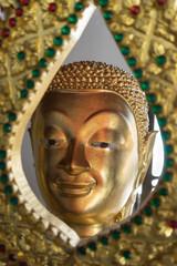 the face of buddha statue, Buddhist worship