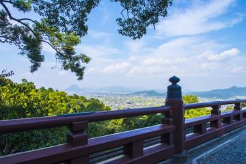 金刀比羅宮からの琴平町眺望