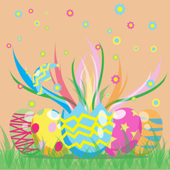 Easter day vector image for your design idea
