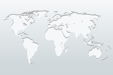 World Map on a gray background. vector illustration