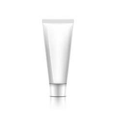 cosmetic bottle of cream on white background.  Illustration vector.
