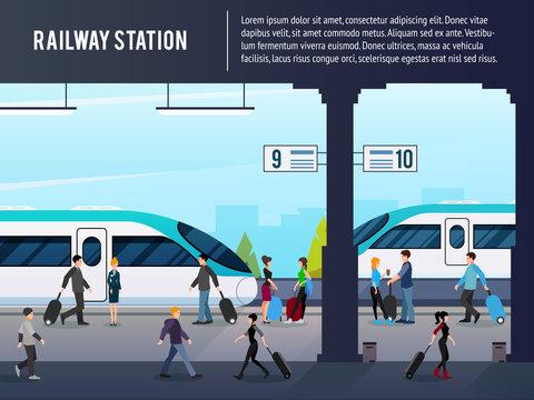Intercity Railway Station Illustration