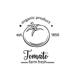 Tomato badge label for markets and menu
