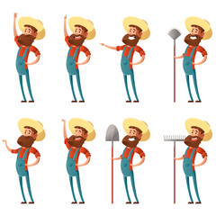 Set of farmer icons3