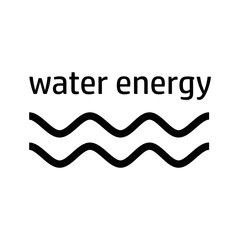 water energy black icon