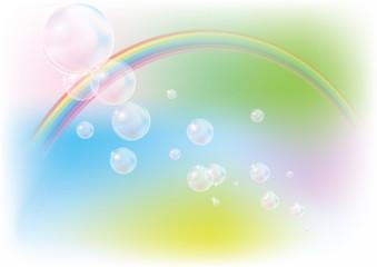 シャボン玉と虹 イメージイラスト