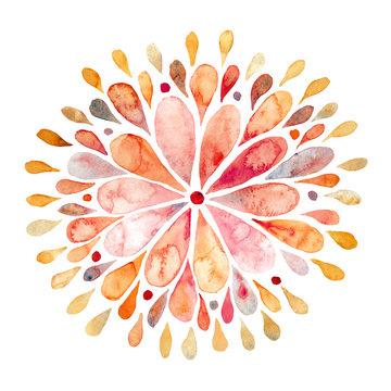 Watercolor mandala illustration