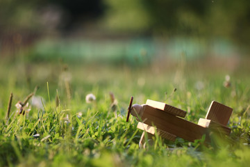 wooden toy airplane