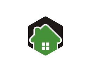 Hexagonal House Logo V4