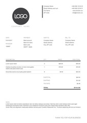 Black and white simple invoice template