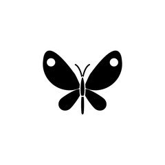 Butterfly solid icon, spring & easter elements, insect sign, a filled pattern on a white background, eps 10.