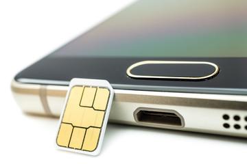 SIM Karte auf Smartphone