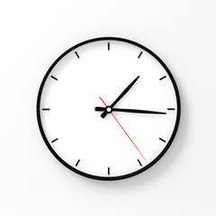 Wall clock mockup 3d rendering