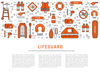 Lifeguard flat outline icon