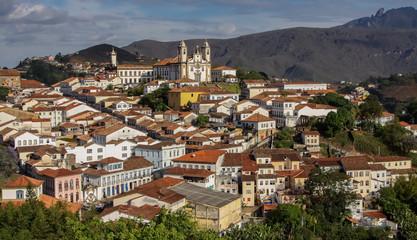 View of historic baroque city Ouro Preto, UNESCO World heritage site, Minas Gerais, Brazil