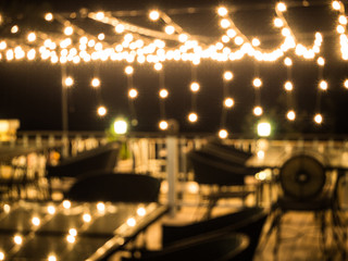 abstract blurred background of resturant lights