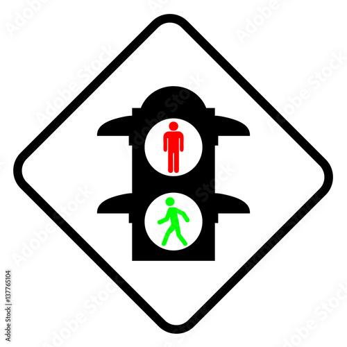 """""""Pedestrian lights icon"""" Imágenes de archivo y vectores ..."""