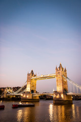 Tower Bridge and the River Thames, London.