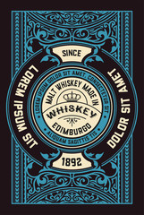 Vertical Old Whiskey card