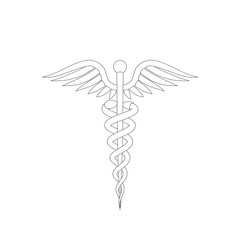 Medical symbol. Isolated on white background. Vector outline illustration.