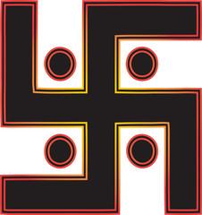 The most important symbol in Jainism - Sun Swastika.