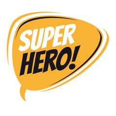 superhero retro speech balloon