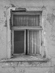 Antikes Fenster Monochrom