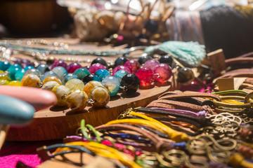 Handmade jewelry at Bali Sunday Market