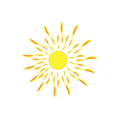 The sun sign on white background