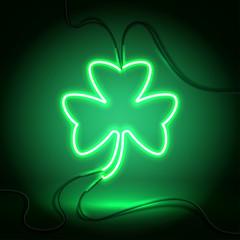 neon dark green clover-01
