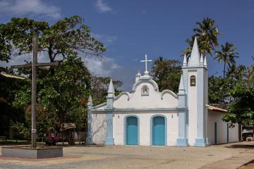 Historic church Igreja de Sao Francicsco in Praia do Forte, Brazil