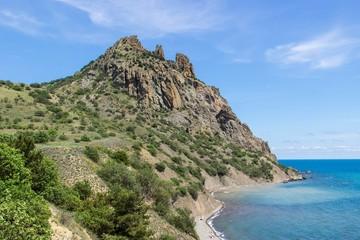 Ancient Karadag volcano landscape, South Crimea