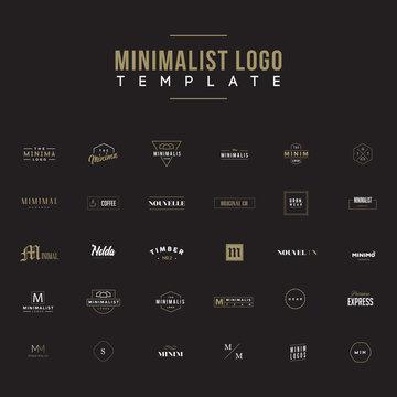 Minimalist Logo design set