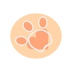 The paw has three fingers and heart