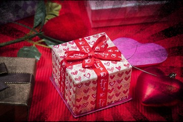 picture art studio shot for valentine day, vintage filter image
