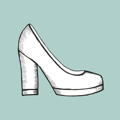 female shoes sketch