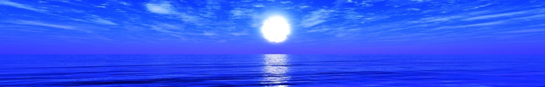 Beautiful sunset panorama of the sea, ocean sunrise, banner