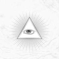 Trinagle with eye