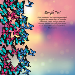 spring background with butterflies