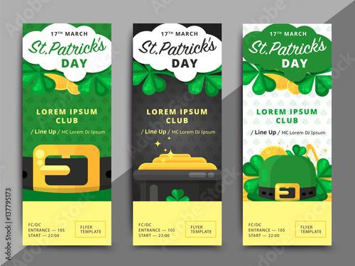St Or Saint Patricks Day Vector Flyer Template Design La Fheile