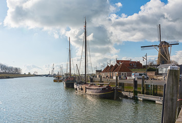 The harbor of the historic city Zierikzee Zeeland