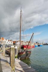 The harbor of the historic city Zierikzee Zeeland