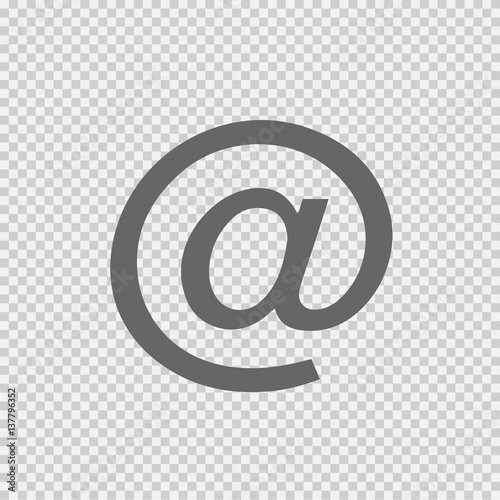 Email Vector Icon EPS 10 At Sign On Transparent Background