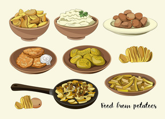 Food from potatoes