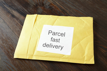 yellow postal envelope